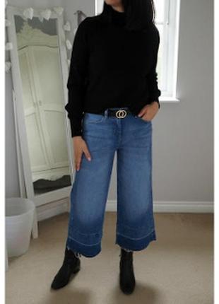 Крутые джинсы-кюлоты большого размера от next
