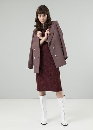 Стильное платье на каждый день season цвет меланж марсала