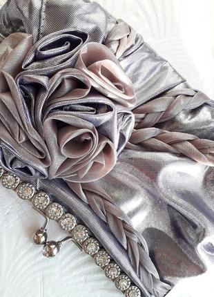 Женская вечерняя сумка -клатч на цепочке