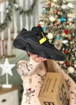 ❄️adidas yeezy 500 black winter❄️чёрные зимние мужские кроссов...