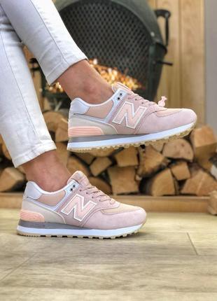 New balance pink, кроссовки женские нью беленс розовые