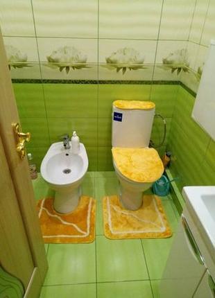 Коврики для ванной и туалета! Комплект из 5 частей. РАСПРОДАЖА!
