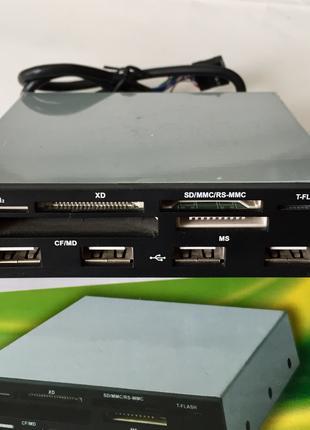 "3.5"" Internal 4-Port USB 2.0 Hub + MS/M2/XD/TF/CF/SD Card Reader"