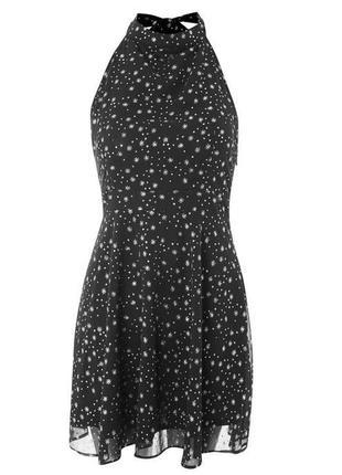 Платье шифоновое блестки снежинки