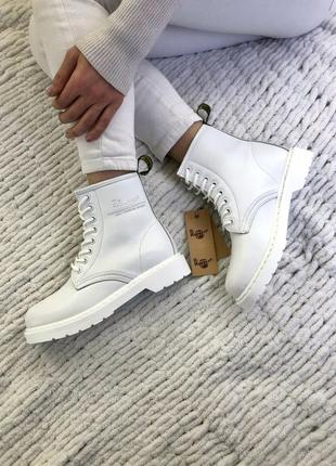 💠dr martines 1460 white💠зимние женские кожаные ботинки доктор ...