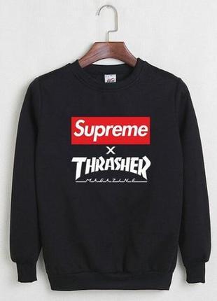 Мужской свитшот Supreme x Thrasher | Размер M