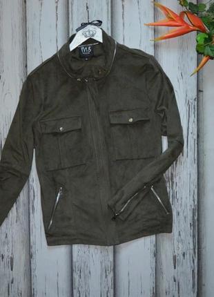 Куртка ветровка из искусственной замши ms mode p 48