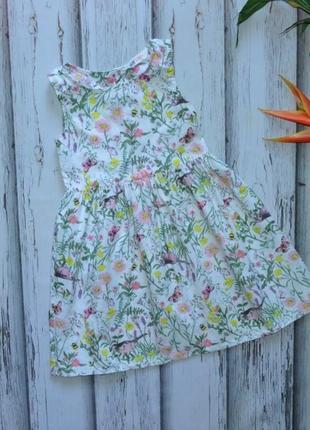 6-7 лет платье цветы h&m