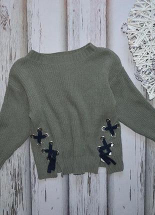 8 лет свитер со шнуровкой велюр синель zara girl