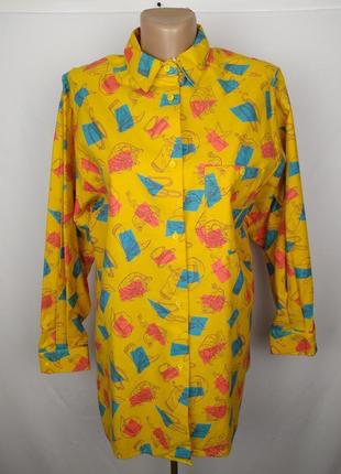 Блуза рубашка фланелевая в принт под винтаж st. bernard uk 10/...