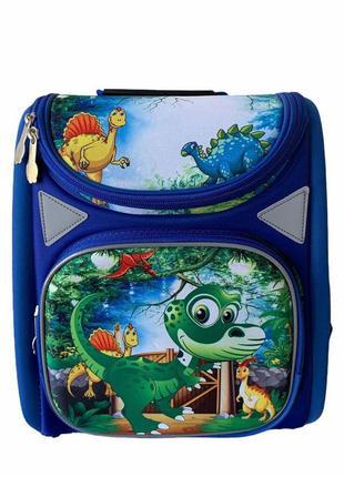 Каркасный школьный детский рюкзак для девочек и мальчиков млад...