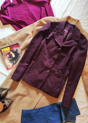Пиджак жакет бордо марсала классический с карманами бордовый в...