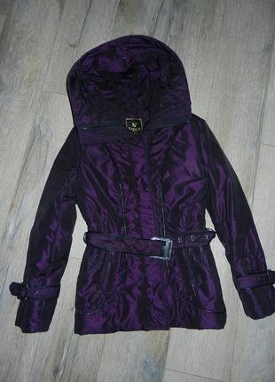 S/38*karuna*,оригинал!фиолетовый пуховик,куртка фиолетового цвета