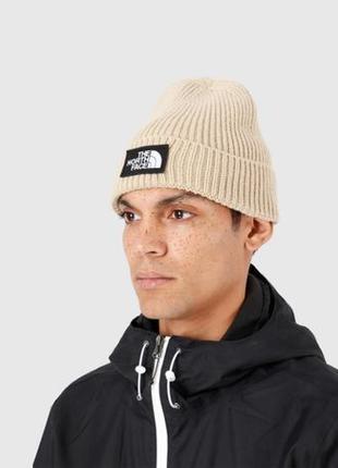 Оригинальная шапка The North Face Logo Box Cuffed Beanie (T93F...