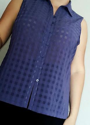 Фиолетовая блуза-рубашка bonmarche на 18-20/54-56 размер