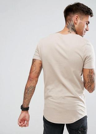 Бежевая футболка slim fit jack son 48-50 италия