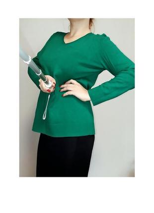 Зеленый джемпер сесil 16- 18 размер