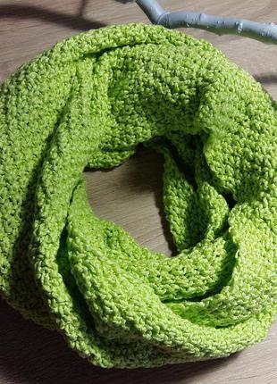 Стильный хлопковый шарф-хомут, снуд, шарф