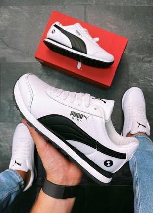 🆕мужские кроссовки puma roma bmw white