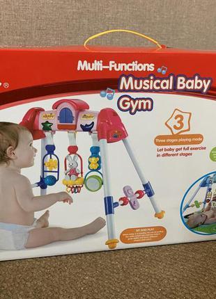 Игровой музыкальный центр для детей: свет, звук, на батарейках...