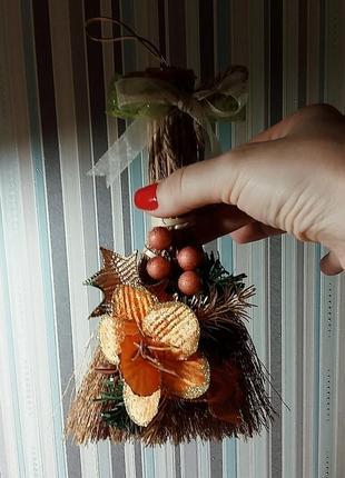 Декоративный рождественский веник-оберег