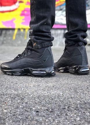 Nike Air Max 95 Sneakerboot (черные) ЗИМА