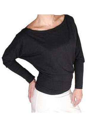 Черный текстильный джемпер с рукавом летучая мышь s-l
