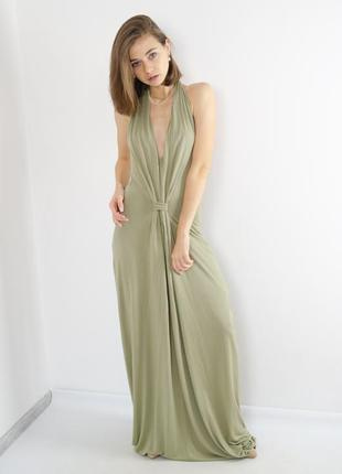 Paul smith роскошное длинное премиум платье в пол с открытой с...