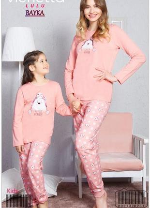 Теплая пижама на байке для девочки.vienetta secret
