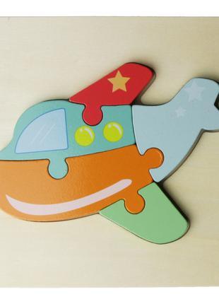 Деревянная игрушка Пазлы MD 2495 (Самолёт)
