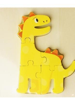 Деревянная игрушка Пазлы MD 2598 (Динозавр)
