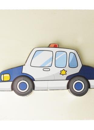 Деревянная игрушка Пазлы MD 2598 (Полицейская машина)