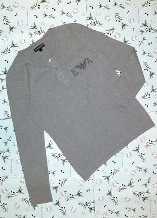 🎁1+1=3 фирменный серый мужской свитер гольфик emporio armani, ...