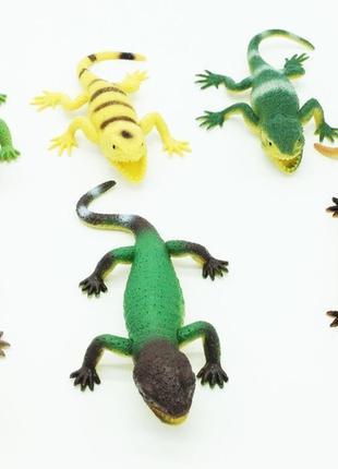Игрушка ящерица Гонконг A053P тянучка 7 см