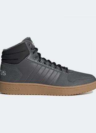 Мужские ботинки adidas hoops 2.0 mid артикул ee7373