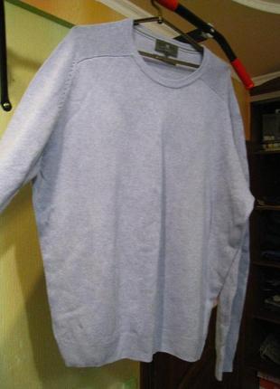 Теплый шерстяной свитер, р.54