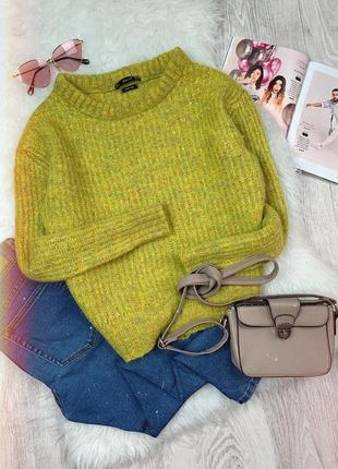 🌿 теплый шерстяной вязаный свитер zara