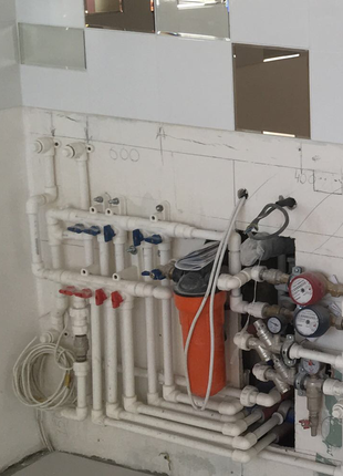 Прокладка трубопроводов, монтаж узлов