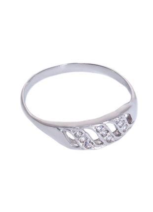 Кольцо из серебра 925 пробы с покрытием из родия софи