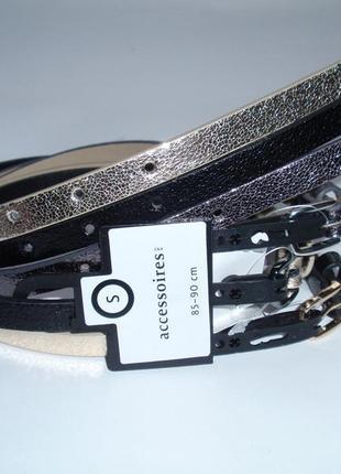 Ремень женский узкий бренд accessoires c&a германия р. s-l