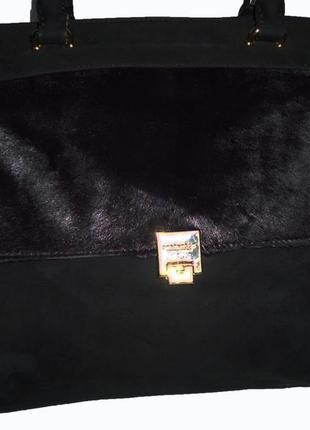 Стильная вместительная сумка   натуральная замшевая кожа  stre...