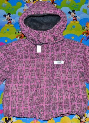 Теплая куртка «lassie» by reima, 74+6 см для девочки