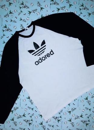 🎁1+1=3 модный белый+черный мужской свитер лонгслив adored, раз...