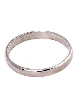 Кольцо из серебра 925 пробы с покрытием из родия обручальное