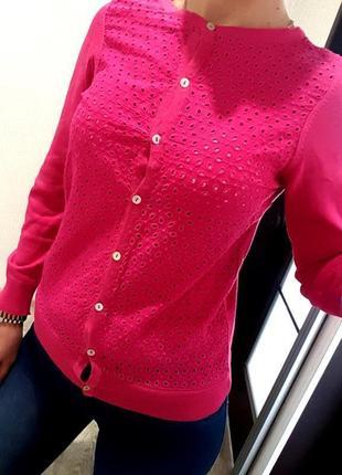 Кофта dunnes на пуговицах свитер розовый брендовый s