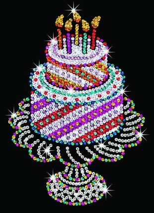 Набор для творчества Sequin Art ORANGE Праздничный торт SA1506