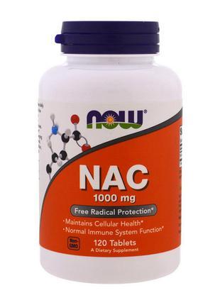 Аминокислоты N-Ацетилцистеин (NAC) Now Foods NAC 1000 mg (120 ...