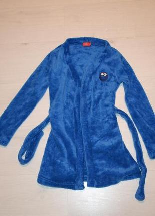 Теплый махровый халат на 8 лет