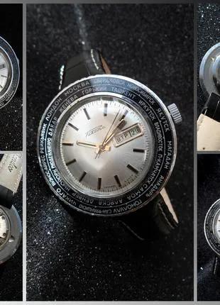РАКЕТА_ГОРОДА, сделано СССР 70-х. БОЛЬШИЕ МУЖСКИЕ часы механика