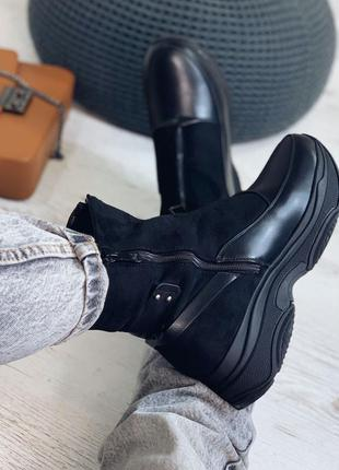 Ботинки мех женские зимние